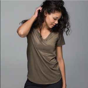 Lululemon What The Sport Gold Tee 6
